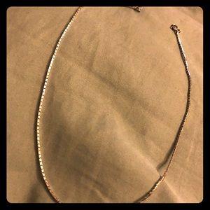 "18"" Monet Vintage Silver Herringbone Chain"